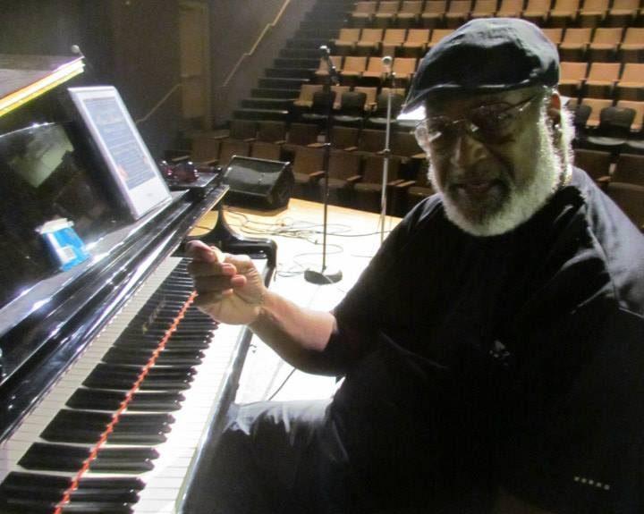James Polk seat at piano